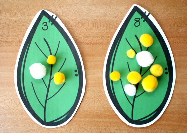 comparing numbers caterpillar eggs preschool math activity for spring