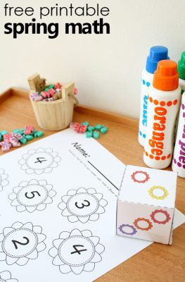 Spring Flower Roll and Color Math Games