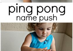 Ping Pong Push Name Recognition Activity