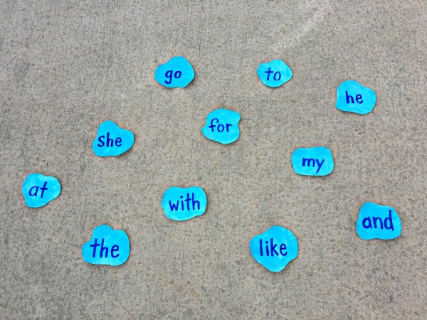 sight words with spring outdoor learning activity