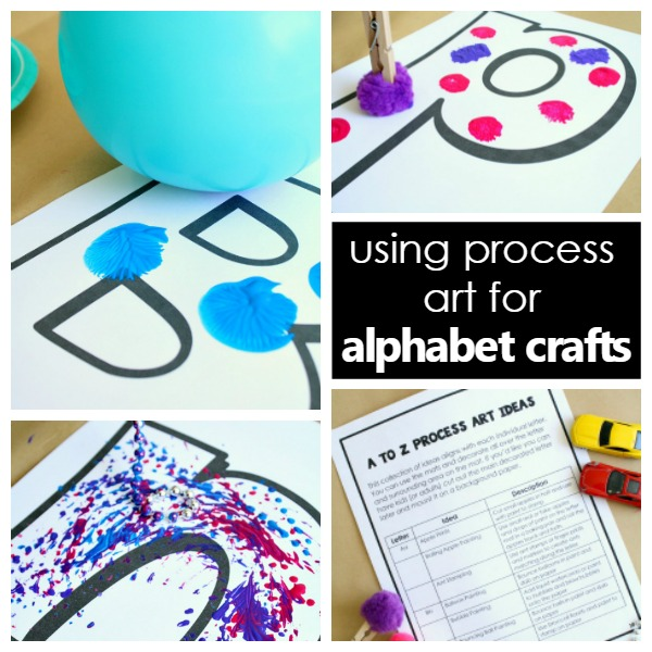 using process art for alphabet crafts-square