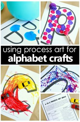 Using Process Art Alphabet Crafts in Preschool