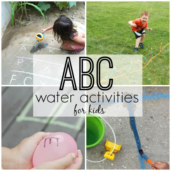 Toddler ABC Activities. Water Play Alphabet Activities