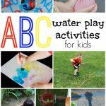 Water Play Alphabet Activities