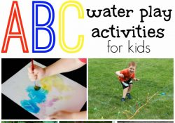 Water Play Alphabet Activities