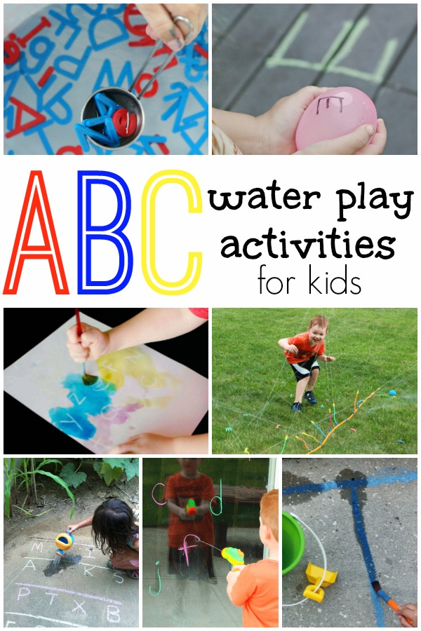 ABC Water Play Activities. Hands-on fun for learning the alphabet. Perfect for warm summer months!
