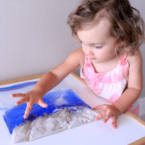 Toddler beach theme sensory play