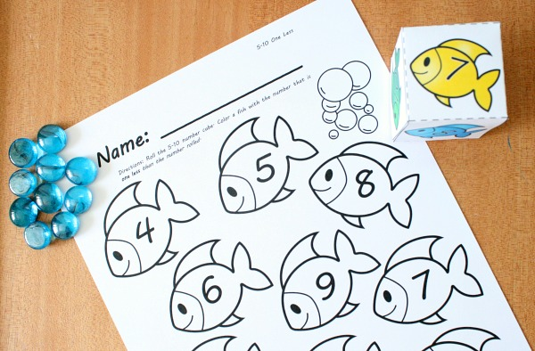 printable summer number sense games