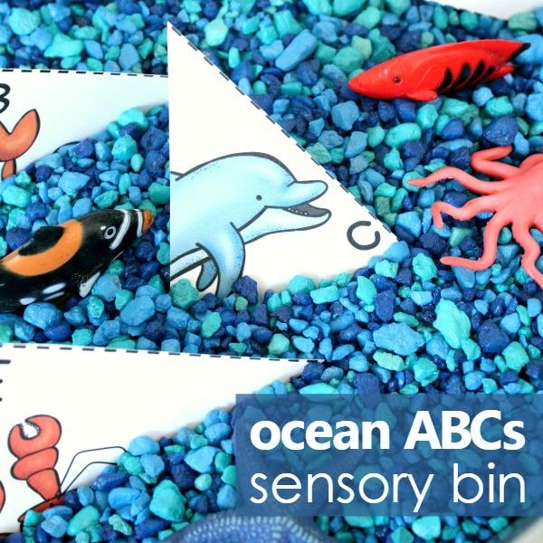 Ocean Theme ABC Sensory Play