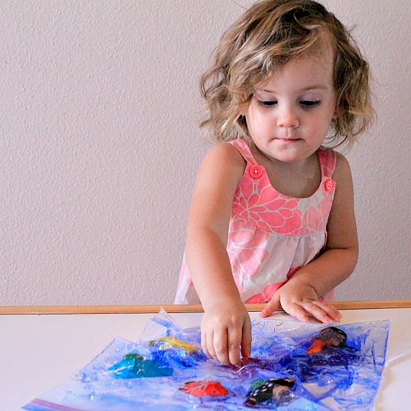 ocean theme sensory play for toddlers