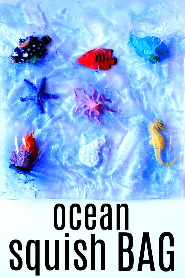 Ocean Sensory Squish Bag...toddler and preschool sensory play for summer!
