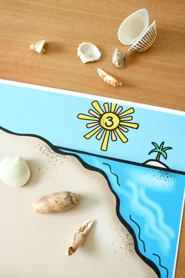 As Kids Are Ready For Beginning Addition And Subtraction You Can Also Use The Beach Theme Counting Mats In A Variety Of Ways