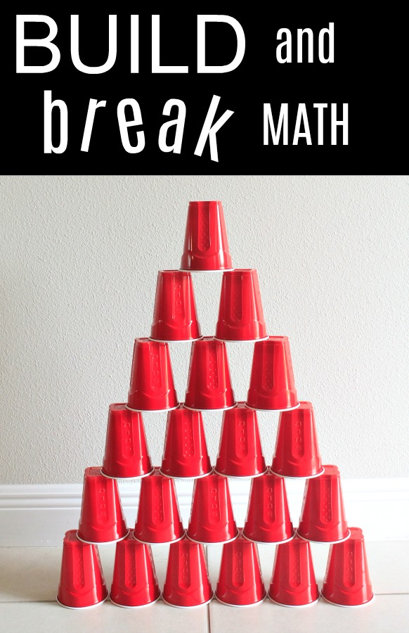 Build and Break Math Game-counting and more for kids! Awesome indoor boredom buster for rainy day play!