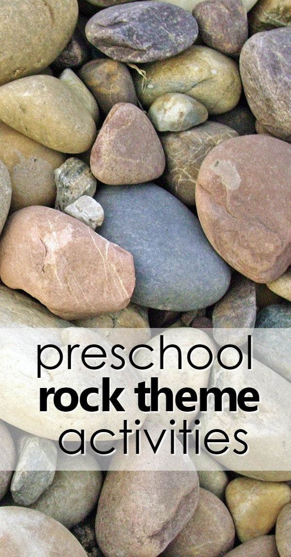 preschool rock theme activities with ideas for hands-on learning, printable lesson plans, learning videos, songs, free printables and more