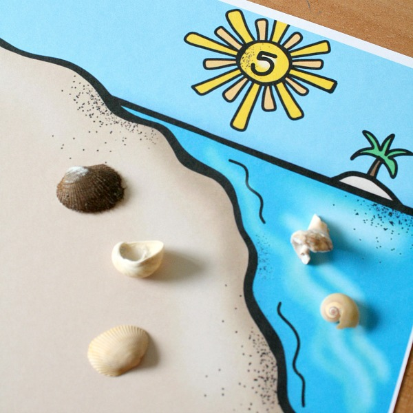 How Else Would You Use These Beach Theme Counting Mats With Your Kids