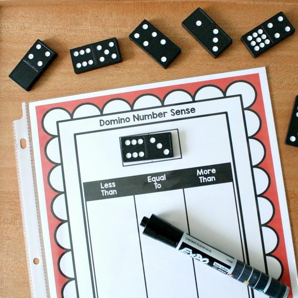 Domino Number Sense Math Dry Erase Activity Fantastic Fun Learning