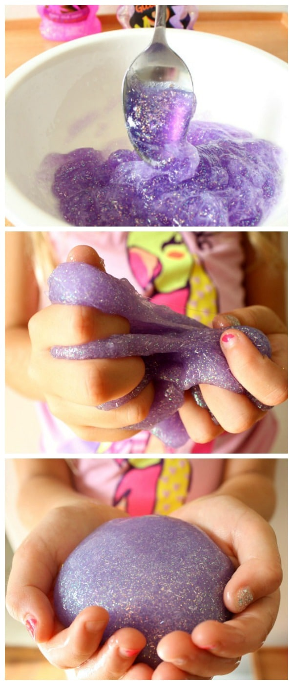 How to Make Glitter Silly Putty-DIY Sparkly Silly Putty Recipe