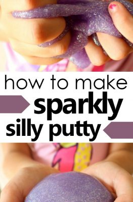 How to Make Glitter Silly Putty