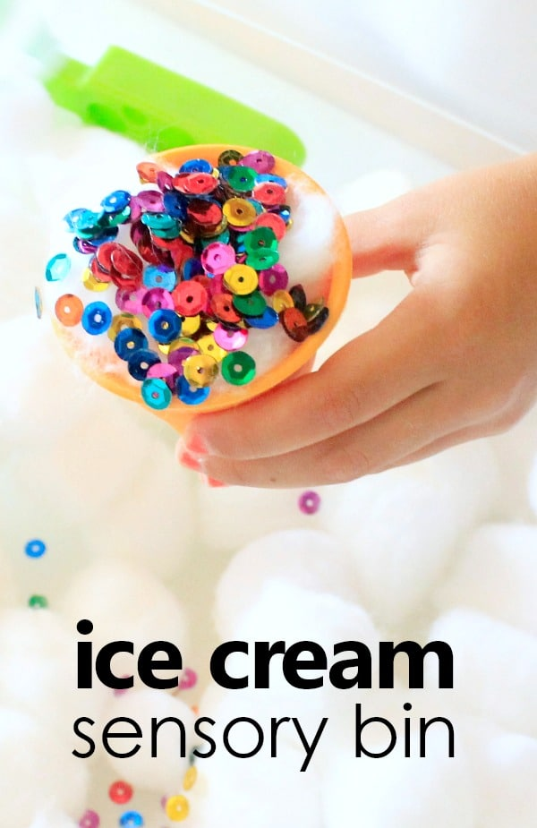 Ice Cream Sensory Bin for Toddlers and Preschoolers