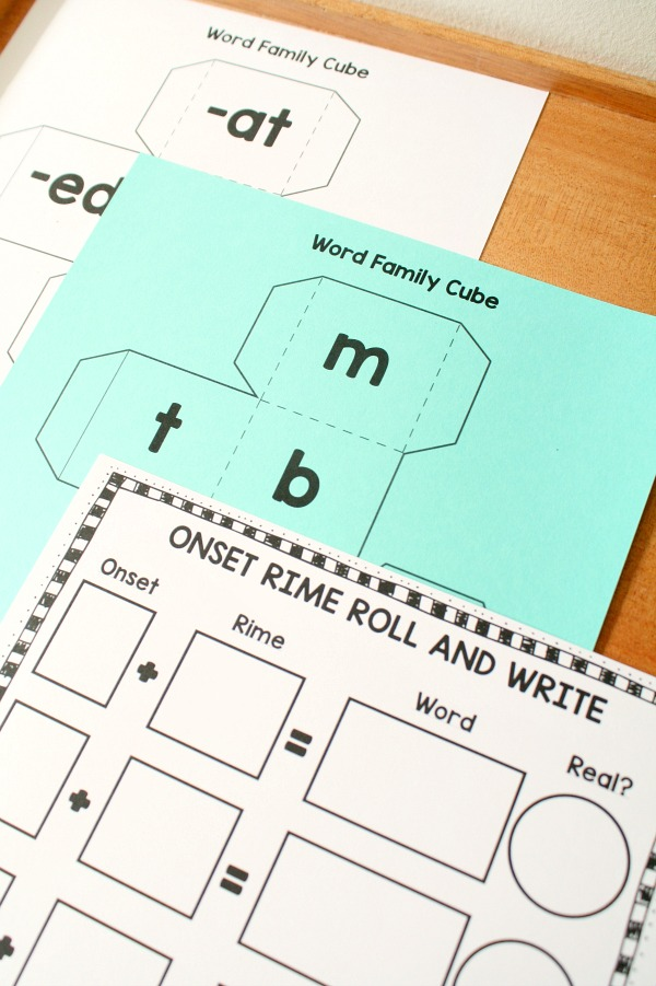 Free Phonics Roll and Write Dry Erase Activity