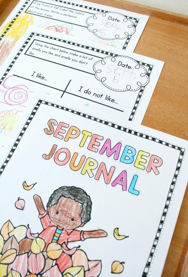 September Journals for Preschool or Kindergarten