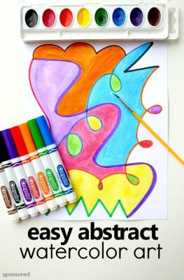 Easy Abstract Watercolor Art Project