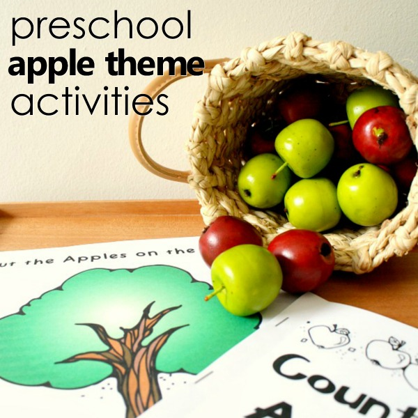 preschool apple theme activities for fall