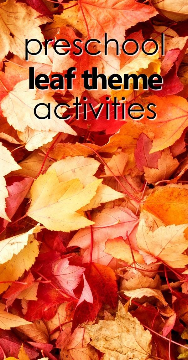 Preschool Fall Leaf Theme Activities Fantastic Fun