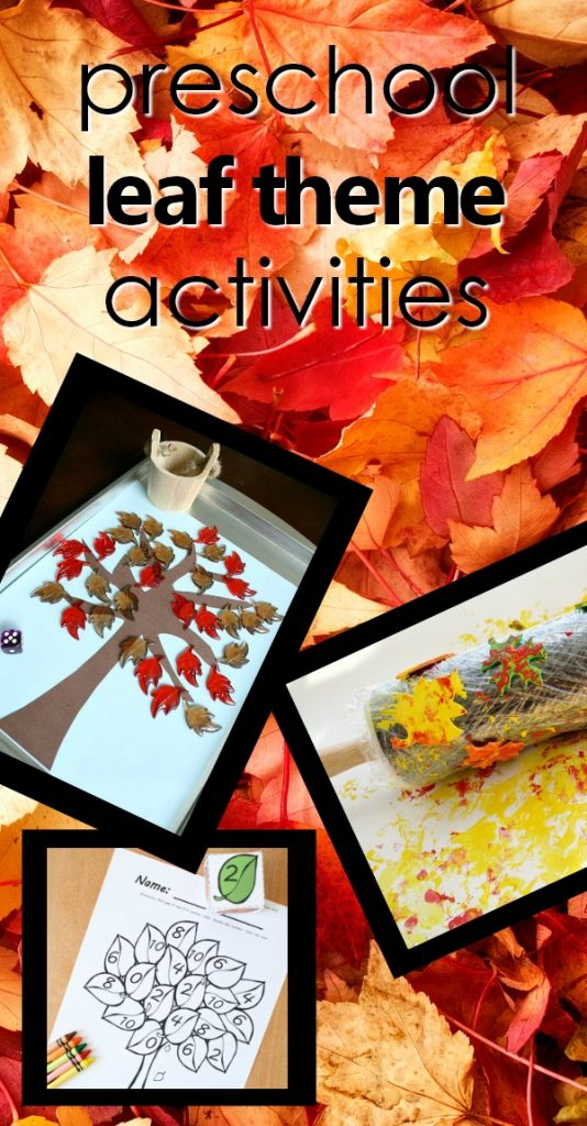 Preschool Leaf Theme Activities-Teaching tips, learning activities, play ideas, free printables, printable lesson plans, favorite leaf videos and more for your fall leaf theme activities