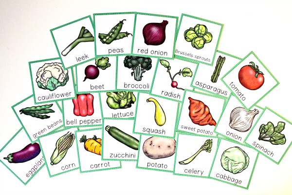 Vegetable Theme Cards