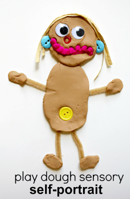 Play Dough Sensory Self-Portrait All About Me Activity for Preschool