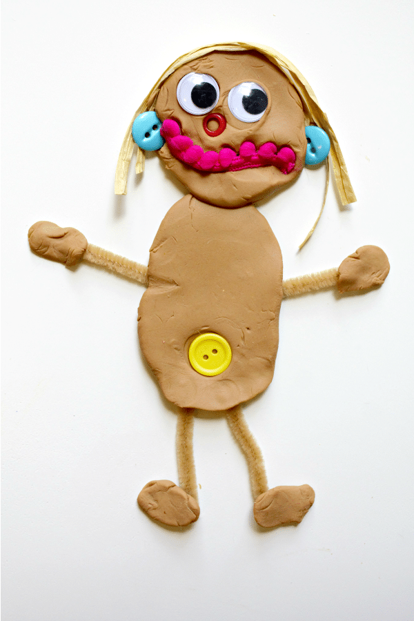 Play Dough Self-Portrait Sensory Activitiy for Preschool All About Me Theme