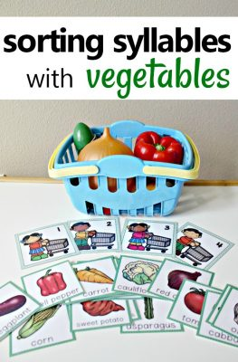 Vegetable Theme Syllable Sorting Activity