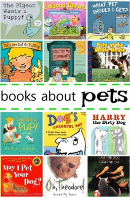 Books About Pets for Young Kids-Have preschoolers and kindergarteners who want a pet? Read some of these books to learn more about common pets and how to care for them. Great for a preschool pet theme!