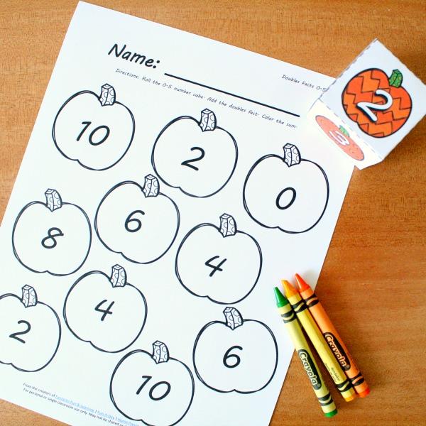 Roll & Color Pumpkin Math