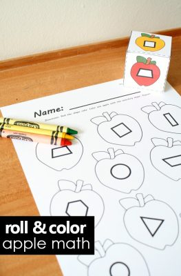 Fall Apple Roll and Color Math Games