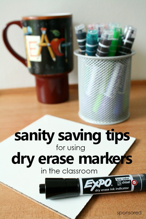 Sanity saving tips for using dry erase markers in the classroom. Teacher tested ideas for preserving markers, managing transitions, and dry erase marker activities