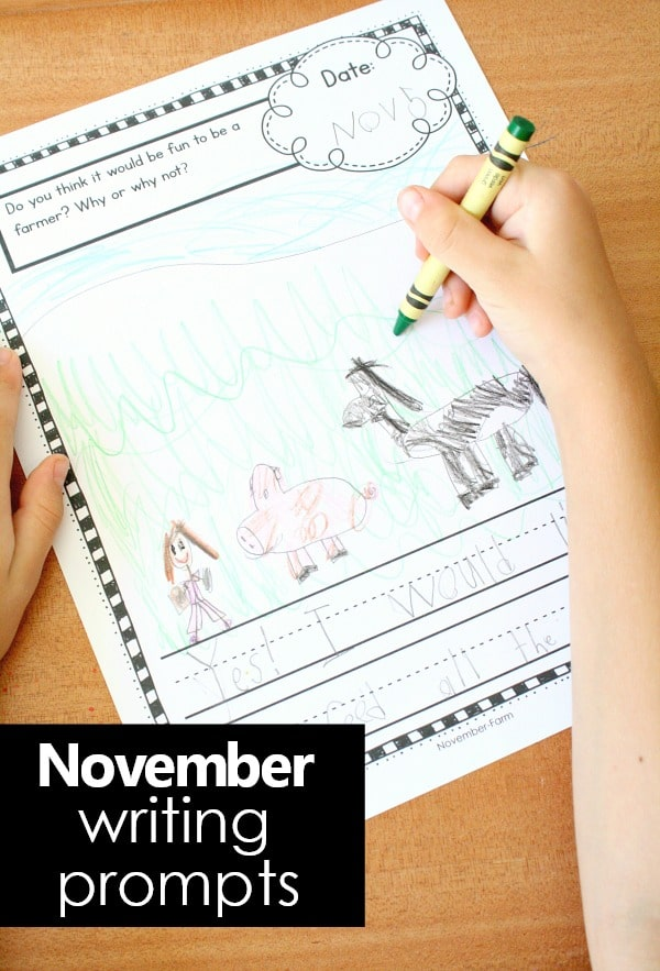 photo regarding Free Printable Journal Pages Lined referred to as November Producing Magazine Prompts for Children - Great Exciting