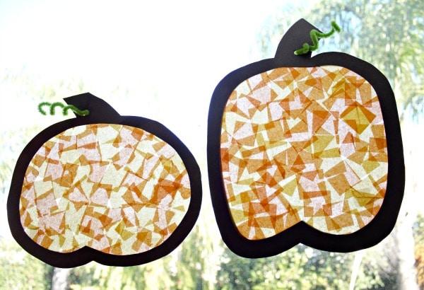 Toddler Fall Craft-Pumpkin Suncatcher
