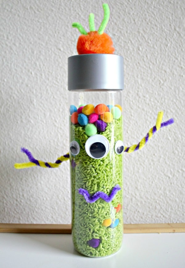 Monster Sensory Bottle Activity for Kids