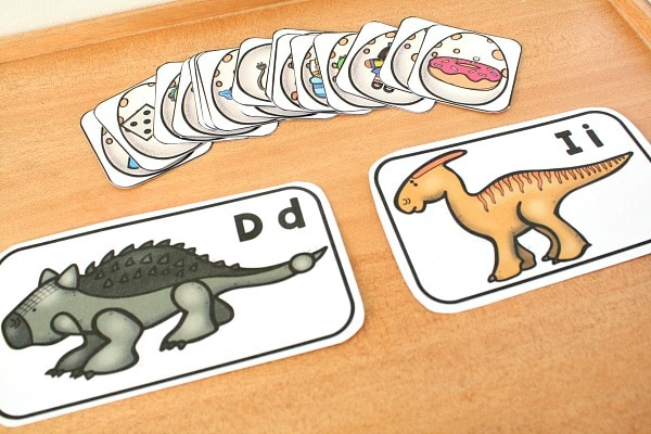Dinosaur Beginning Sound Sort Printable