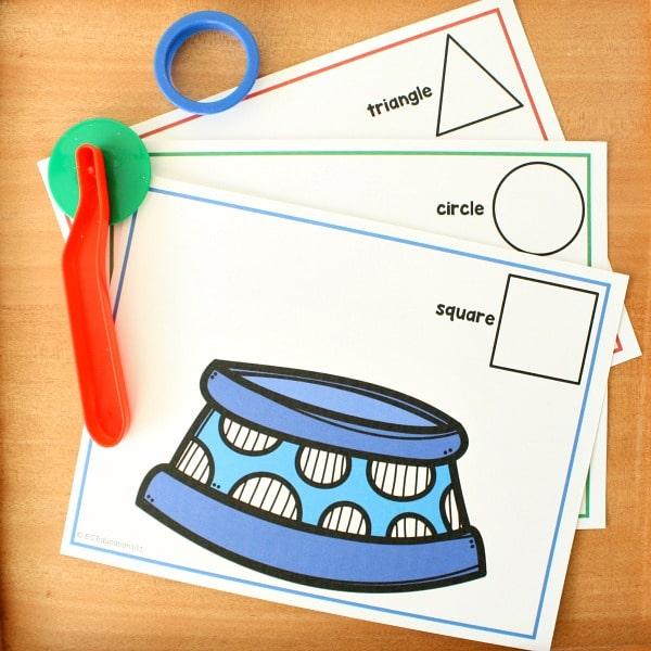 Pet Theme Shape Sorting Mat Printable for Preschool