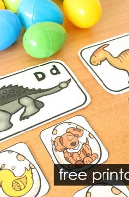 Dinosaur Beginning Sound Scavenger Hunt