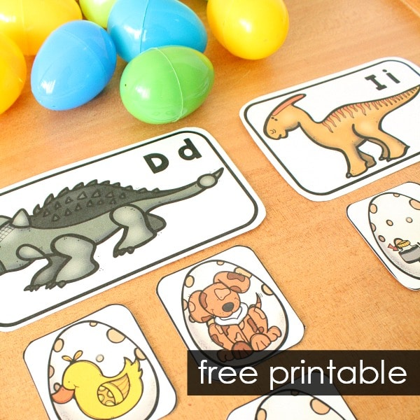 free printable dinosaur theme activity for preschool and kindergarten