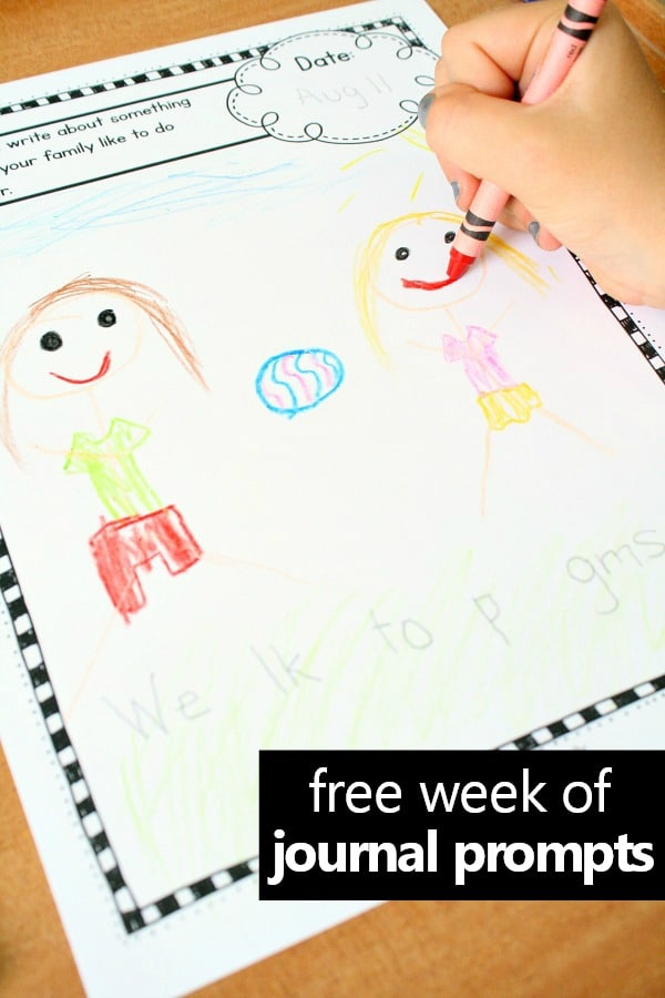 Preschool and Kindergarten Writing Prompts for Kids - Fantastic Fun ...