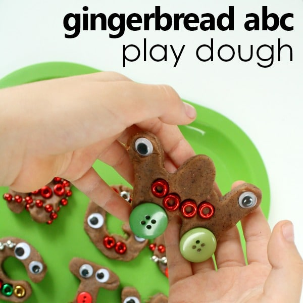 Gingerbread Activity for Preschool-ABC and Number Cookie Pretend Play