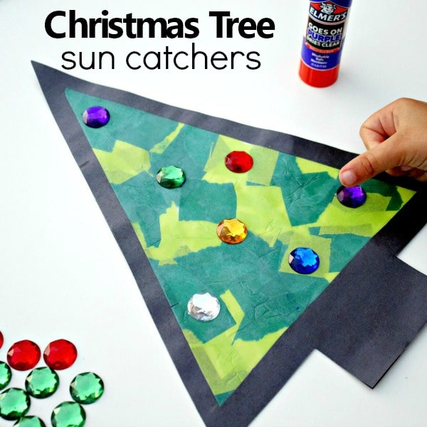 How to Make an Easy Christmas Tree Sun Catcher