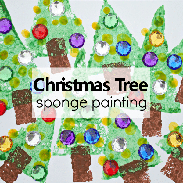 Christmas Tree Sponge Painting Art Project
