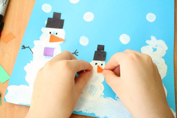 Decorating Snowman Art Preschool Winter Activities