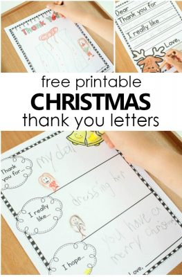 Free printable Christmas Thank You Letter Templates for Kids. Easy to write Christmas Thank You Card Templates #freeprintable #Christmas